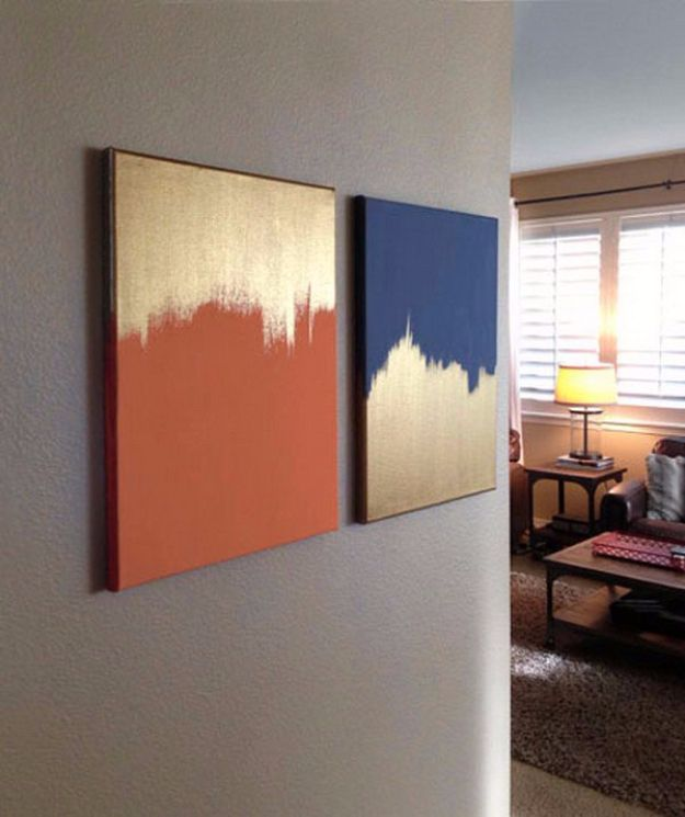 Easy Diy: 15 Super Easy DIY Canvas Painting Ideas For Artistic Home