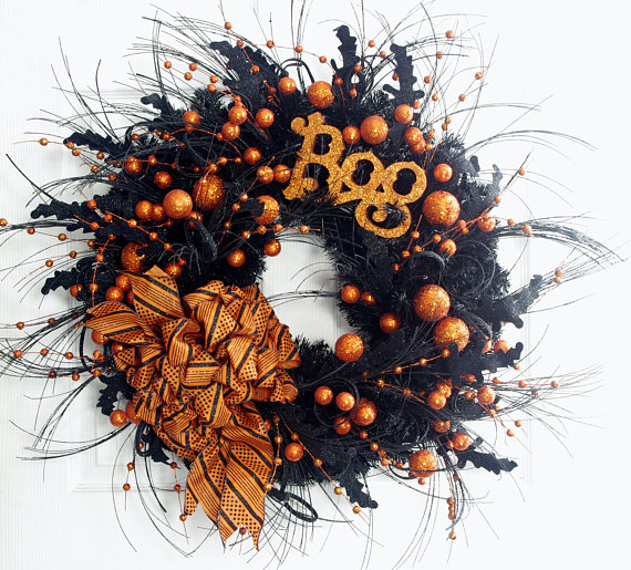16 Ghostly Handmade Halloween Wreath Ideas For Spooky Home ...