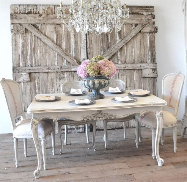 17 helpful ideas to easily decorate your home in shabby for Salle a manger shabby chic