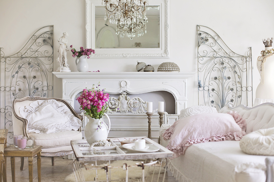 17 helpful ideas to easily decorate your home in shabby Deco chambre romantique chic