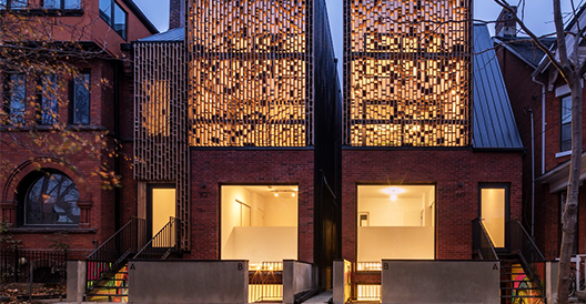 Double Duplex by Batay-Csorba Architects in Toronto, Canada