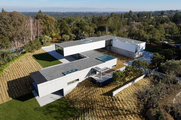 OZ House by Stanley Saitowitz in Atherton, California