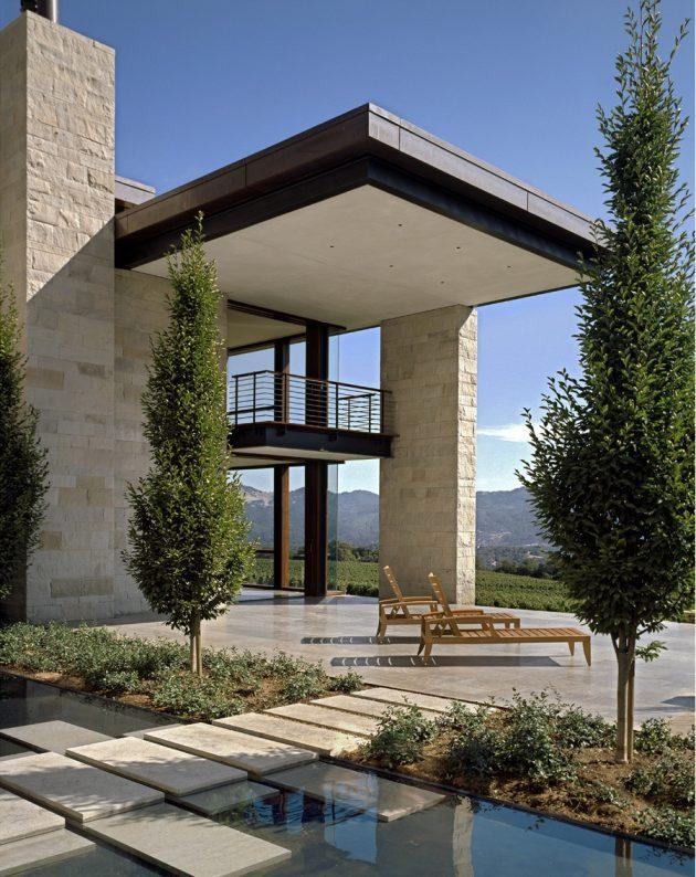 Sonoma Vineyard Estate by Aidlin Darling Design in California