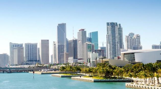 Downtown Miami skyline, Florida, USA.