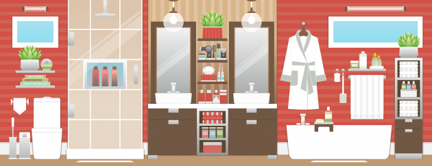 How to Maximize Space in a Small Bathroom - Small Bathroom, shower space, organize, bathroom cabinets, bathroom