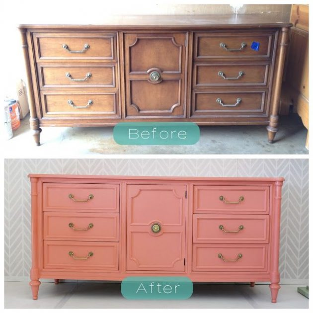 The Process Of Re Painting Old Wooden Furniture