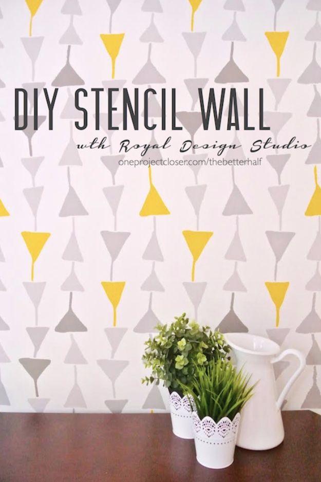 16 Amazing Diy Ideas Using Stencils To