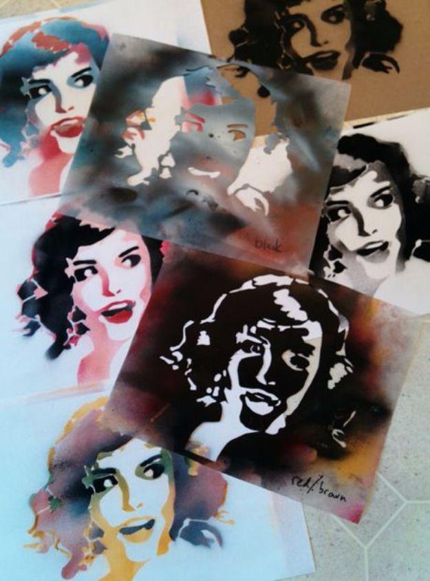 16 Amazing DIY Ideas Using Stencils To Display Your Creativity