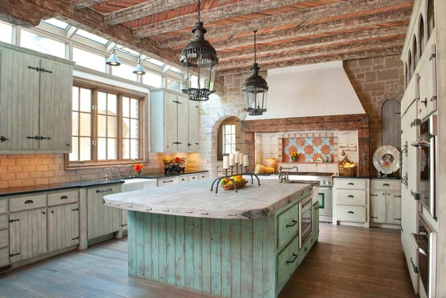 19 marvelous rustic kitchen designs that will attract your for Kitchen ideas long kitchen