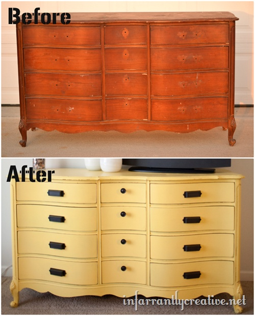 The Process Of Re-Painting Old Wooden Furniture