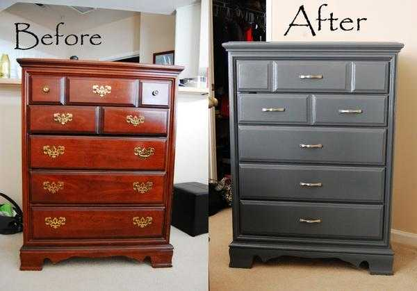 Process Of Re Painting Old Wooden Furniture