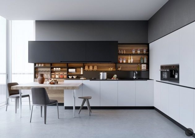 16 Fascinating Black&White Kitchens For Your Inspiration