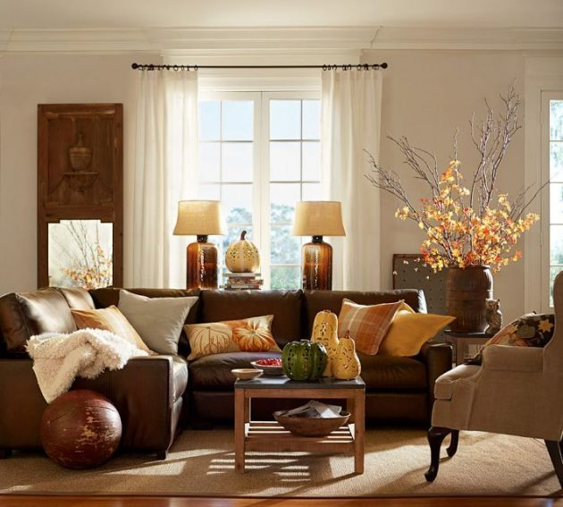 16 Outstanding Ideas To Enter Autumn Colors In The Home