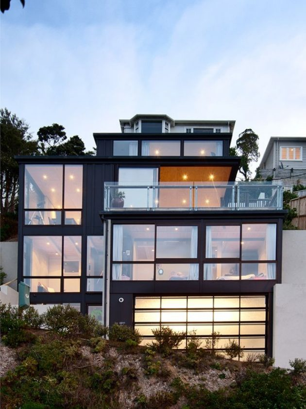 Hataitai home by john mills architects in wellington new for Wellington house designs
