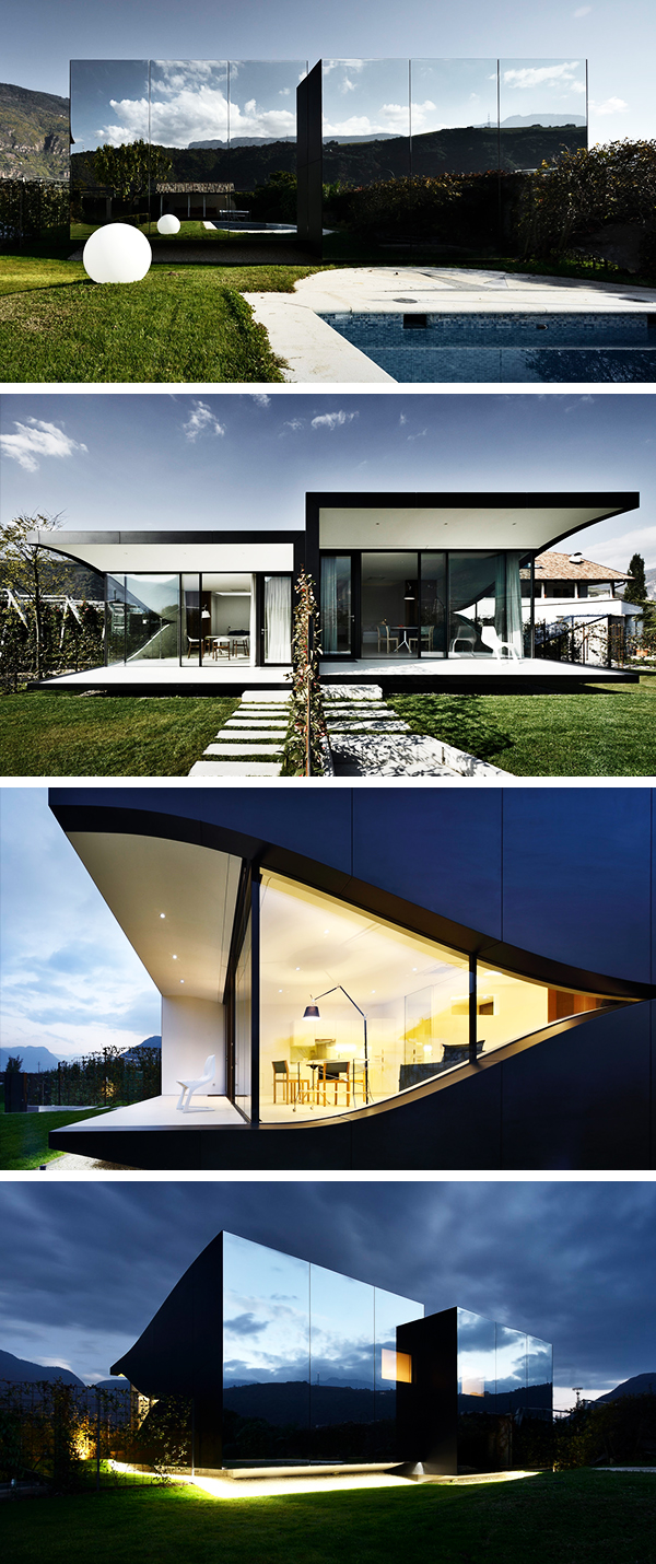 Mirror Houses by Peter Pichler Architecture in Bolzano, Italy