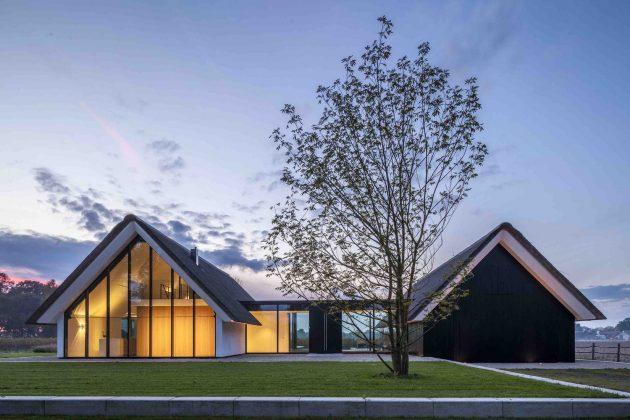 Modern Countryside Villa by Maas Architecten in Berlicum, Netherlands