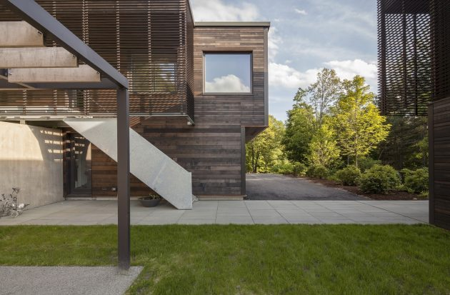 Red Rock House by Anmahian Winton Architects in New York, USA