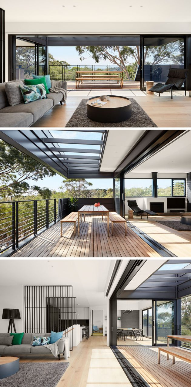 Tree Top House by Bryant Aslop in the Seaside Town of Mount Martha in Australia