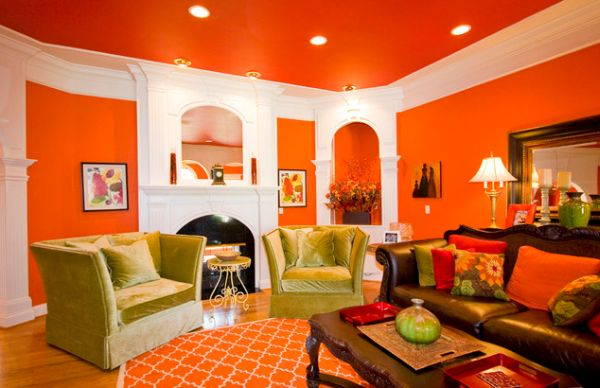 Autumn Refreshment In The Home  16 Orange Interior Designs