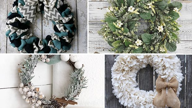 15 Fantastic Handmade Winter Wreath Designs For Your Front Door