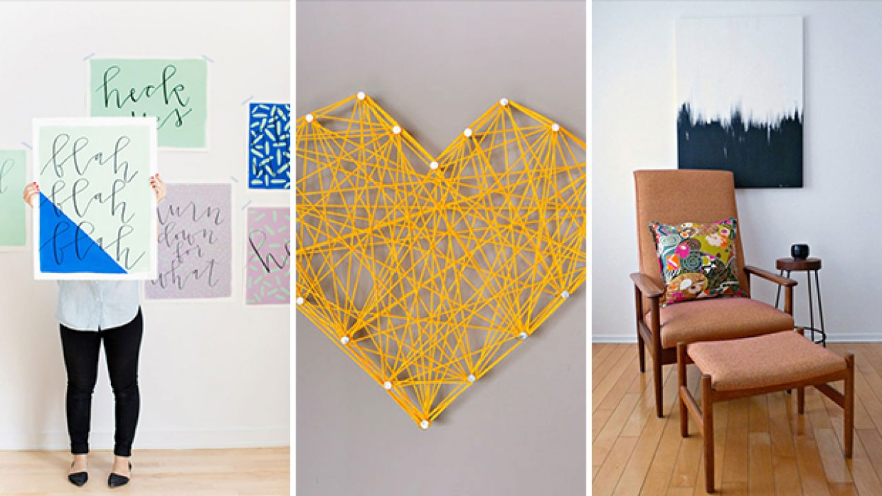 17 Easy Diy Wall Art Projects That Won T Take You More Than