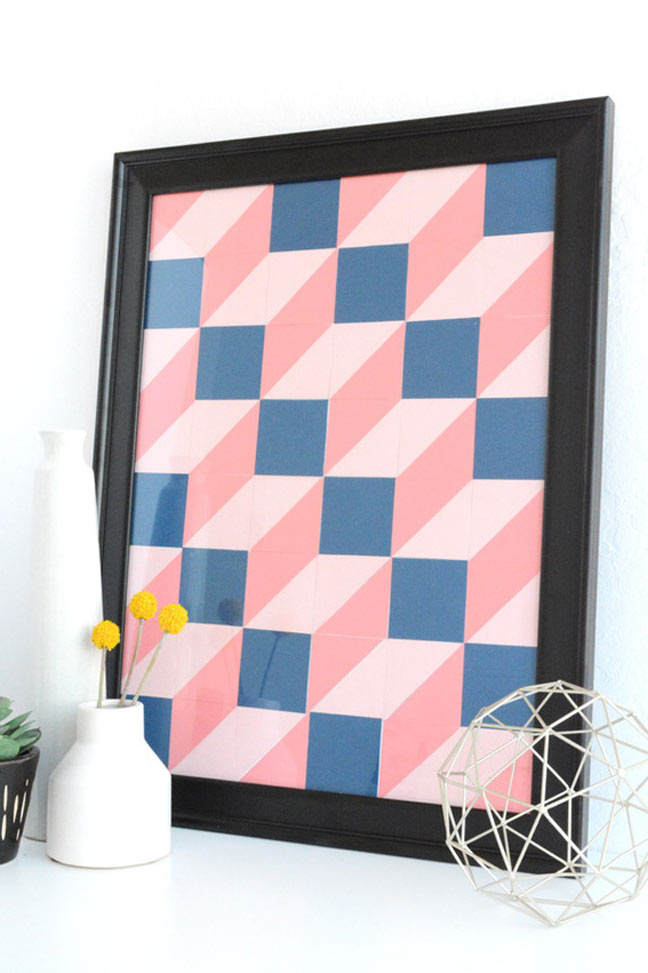 17 Easy Diy Wall Art Projects That Won T Take You More