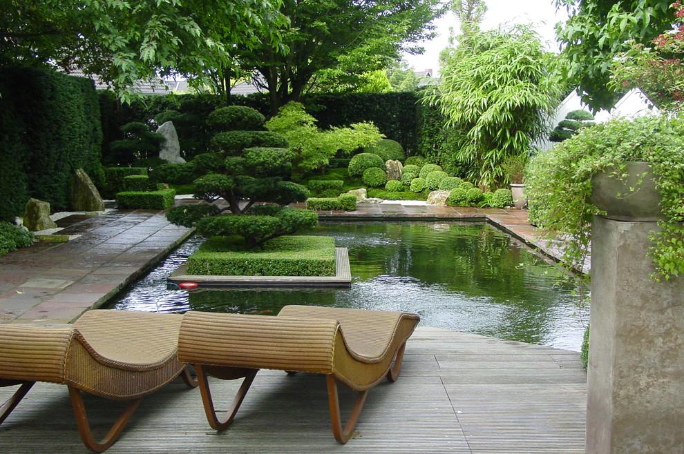 18 picturesque asian landscape designs in beautiful zen for Zen pool design