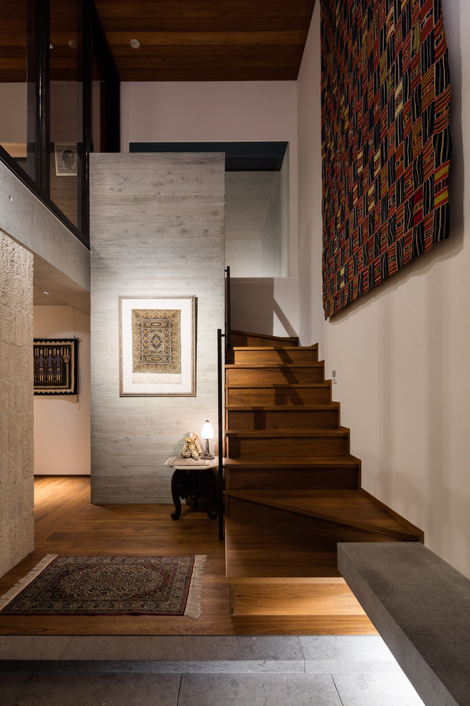 18 Stunning Asian Staircase Designs That Shape The Space Around Them