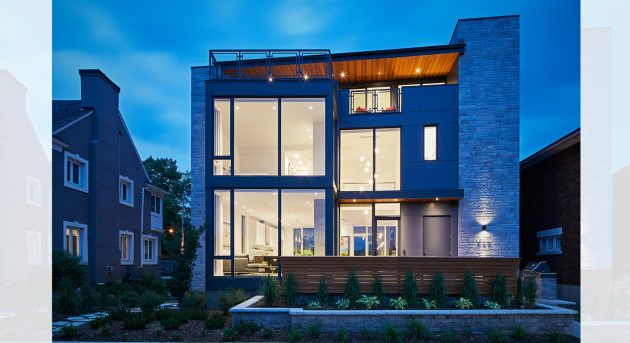 Canal Terrace House by Christopher Simmonds Architect in Ottawa, Canada
