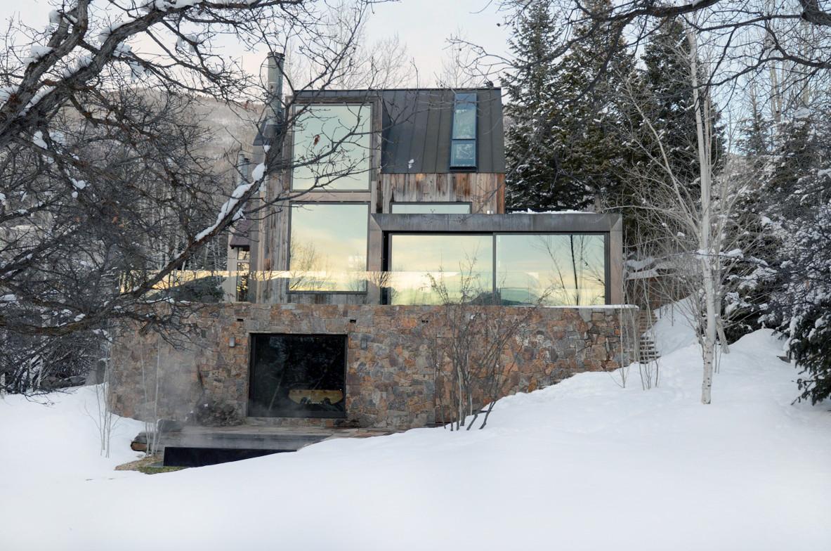 La muna residence by oppenheim architects in aspen colorado for Aspen home design