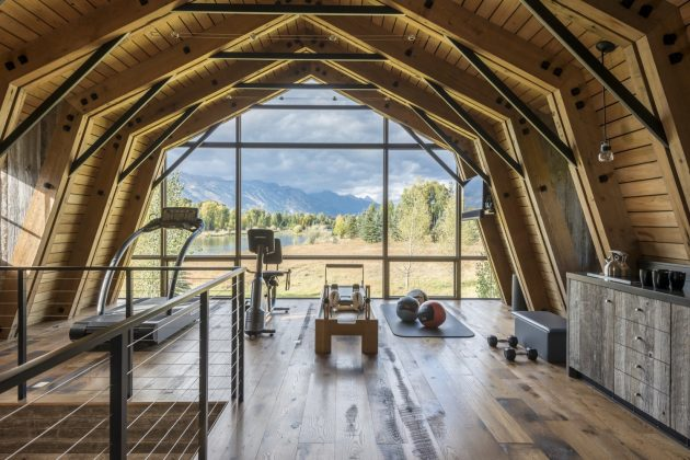 The Barn by Carney Logan Burke Architects in Wilson, Wyoming