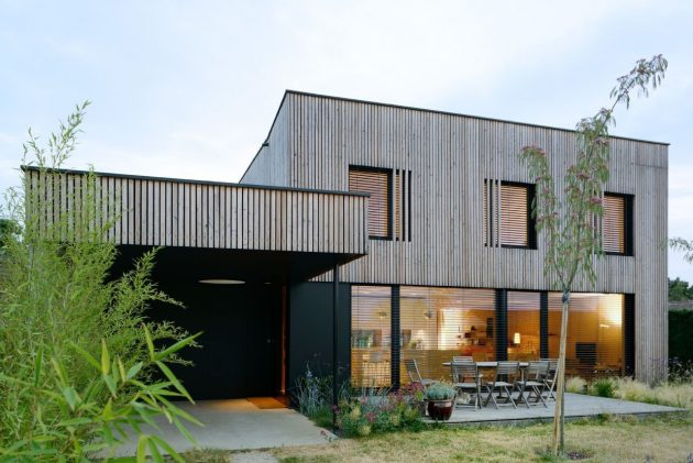 Villa B by Tectoniques Architects in Lyon, France