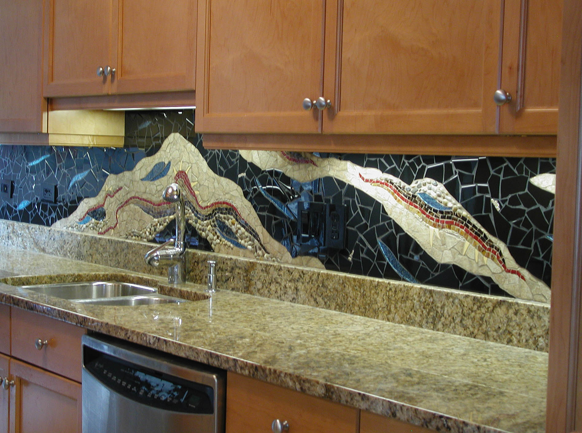 Admirable 15 Outstanding Kitchen Mosaic Backsplash Ideas That Are Download Free Architecture Designs Scobabritishbridgeorg