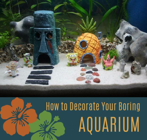 15 awesome diy aquarium ideas that are full of creativity for Aquarium decoration diy