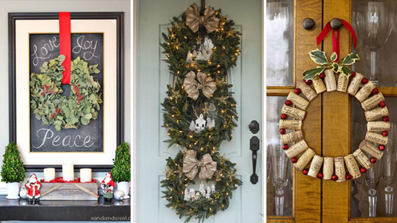 Christmas Wreath Ideas.17 Whimsical Diy Christmas Wreath Ideas You Ll Easily Craft
