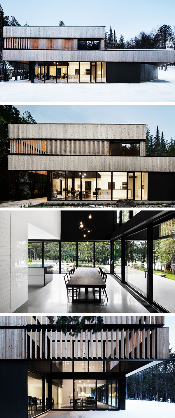 House by the Lake by ACDF Architecture in Magog, Canada