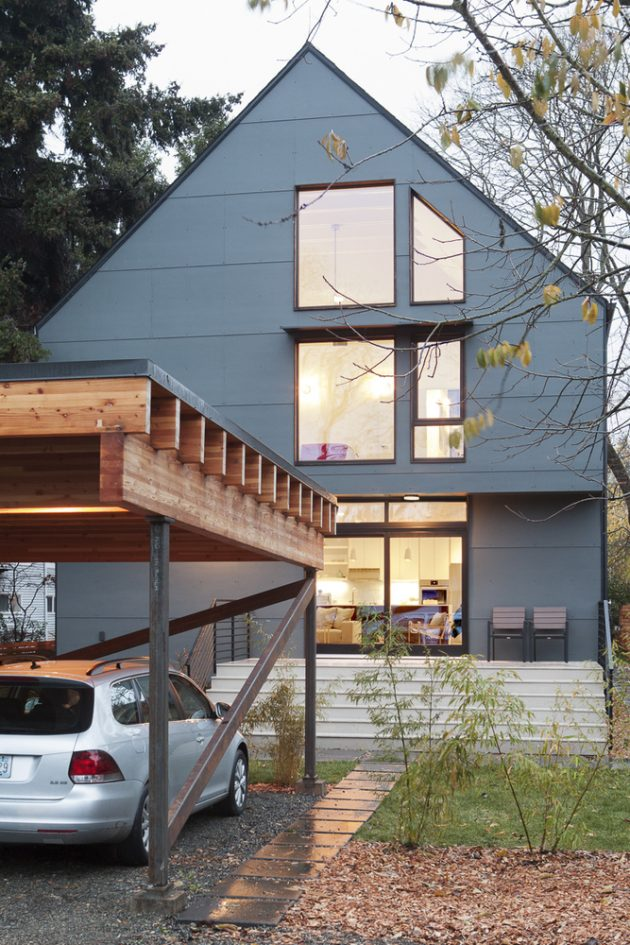 Palatine Passive House by Malboeuf Bowie Architecture in Greenwood, Seattle