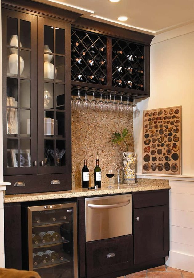 17 really cool home bar designs that are worth seeing for Cool home bar designs