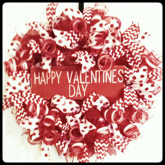 15 cute handmade valentines day wreath designs make a unique gift - Valentines Designs