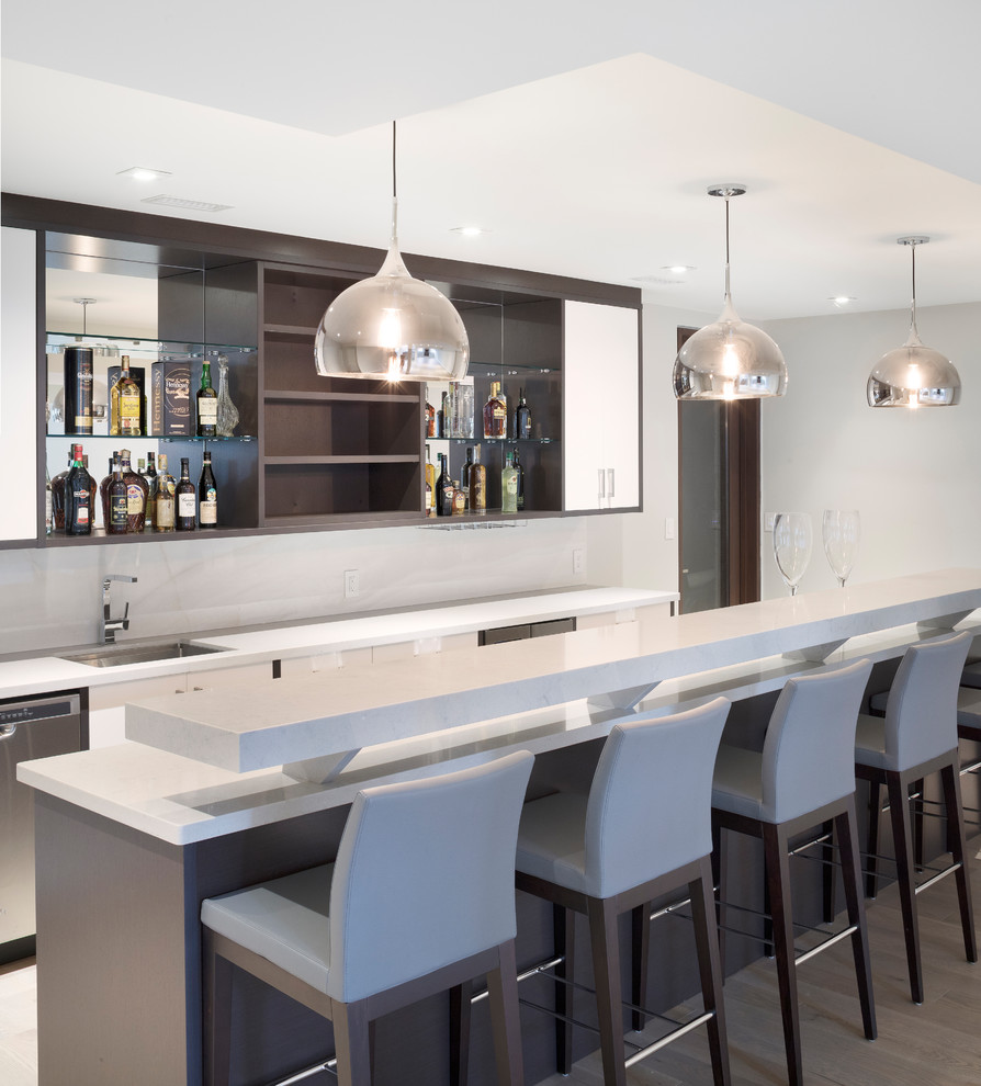 15 stupendous modern home bar designs that will make your for Modern bar designs for home