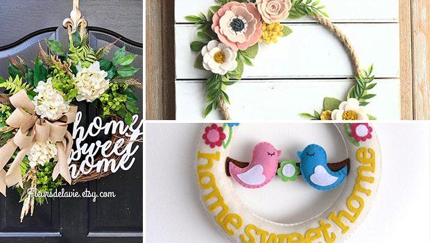17 Creative Handmade Spring Wreath Designs That Will Refresh Your Front Door