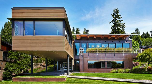 Brook Bay Residence by SKL Architects on Mercer Island in Washington