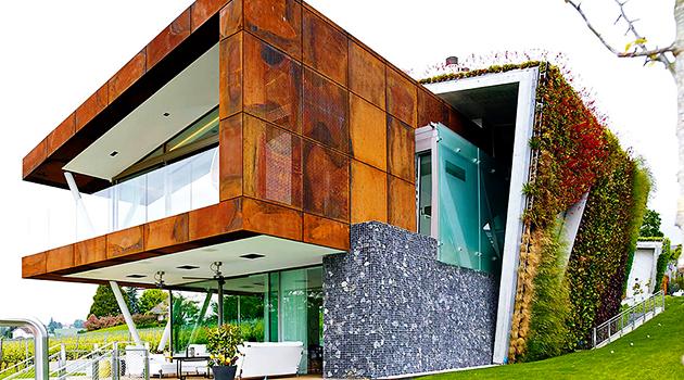 Jewel Box Villa by Design Paradigms in Lausanne, Switzerland