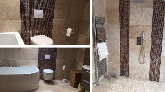 5 Stunning Metallic Bathroom Wall Designs