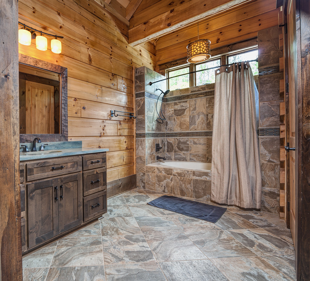 Get The Look A Chic Cabin That Reinvents Our Idea Of: 16 Stunning Rustic Bathroom Designs You'll Instantly Want
