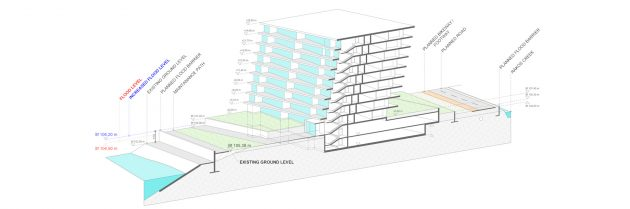 Digital algorithm changes configuration of apartments in building by the Danube