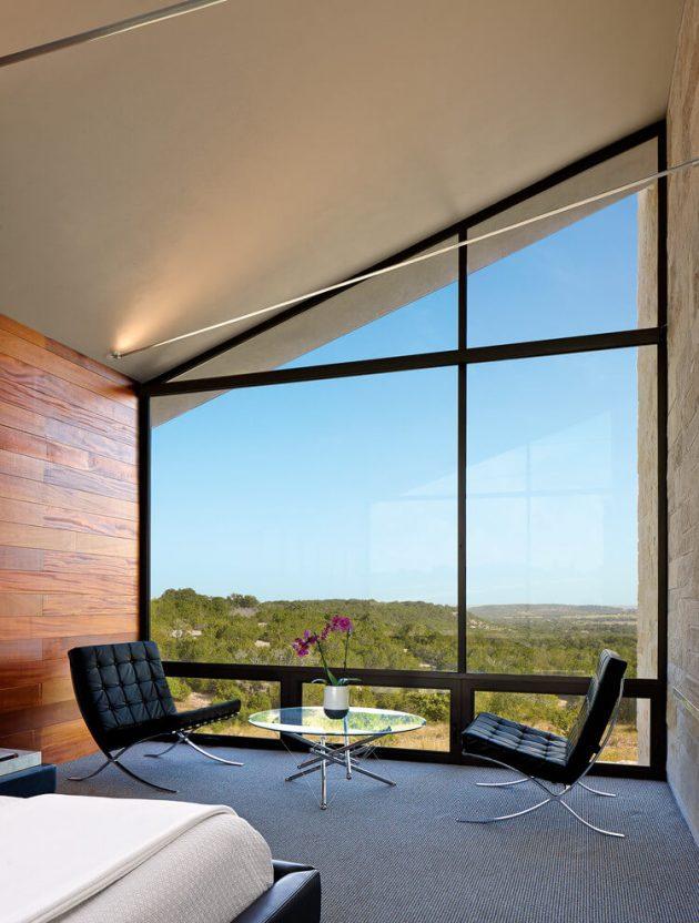 Glass House by Jim Gewinner near Fredericksburg, Texas