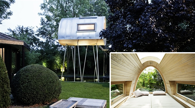 King of the Frogs Treehouse Project by Baumraum in Germany