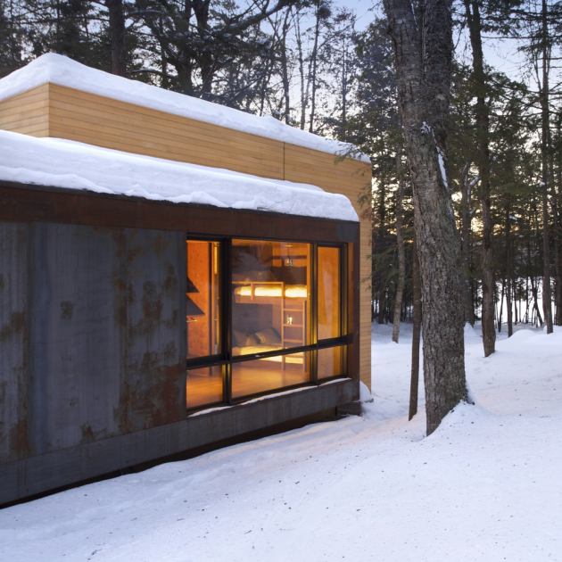 La Luge by YH2 Architecture in Quebec, Canada