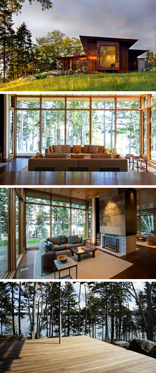Medomak River House by Anmahian Winton Architects in Maine, USA